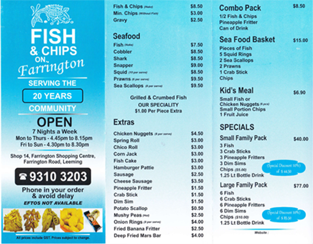 fish and chip shop menu template pics for fish and chips shop menu